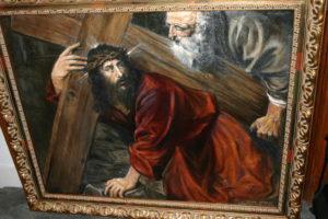 "Michael Barrett's replica of Titian's ""Christ Carrying the Cross"""